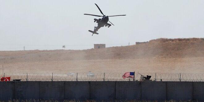 سقوط مروحية عسكرية أمريكية شمال شرقي سوريا