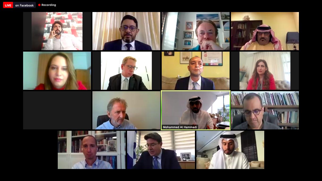 المشاركون في الندوة العربية الاسرائيلية